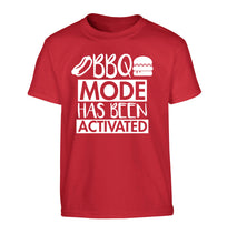 Bbq mode has been activated Children's red Tshirt 12-14 Years