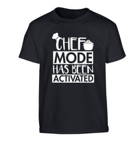 Chef mode has been activated Children's black Tshirt 12-14 Years