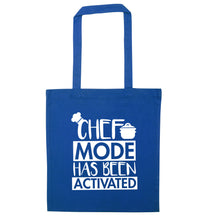 Chef mode has been activated blue tote bag