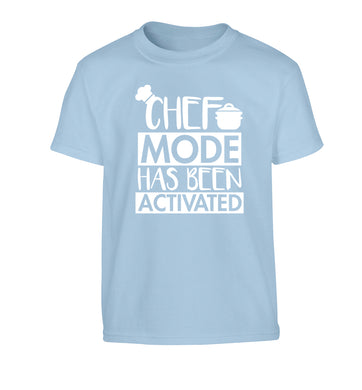 Chef mode has been activated Children's light blue Tshirt 12-14 Years