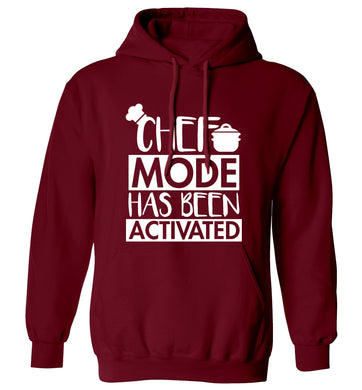 Chef mode has been activated adults unisex maroon hoodie 2XL