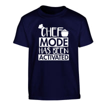Chef mode has been activated Children's navy Tshirt 12-14 Years