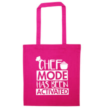 Chef mode has been activated pink tote bag