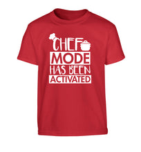 Chef mode has been activated Children's red Tshirt 12-14 Years