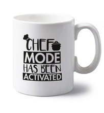 Chef mode has been activated left handed white ceramic mug