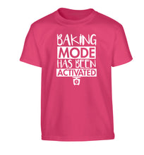 Baking mode has been activated Children's pink Tshirt 12-14 Years