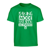 Baking mode has been activated Children's green Tshirt 12-14 Years