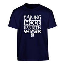 Baking mode has been activated Children's navy Tshirt 12-14 Years