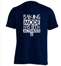 Baking mode has been activated adults unisex navy Tshirt 2XL