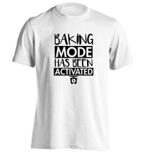 Baking mode has been activated adults unisex white Tshirt 2XL