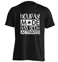 Holiday mode has been activated adults unisex black Tshirt 2XL