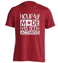 Holiday mode has been activated adults unisex red Tshirt 2XL