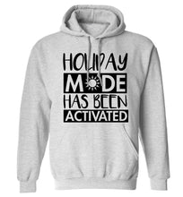 Holiday mode has been activated adults unisex grey hoodie 2XL