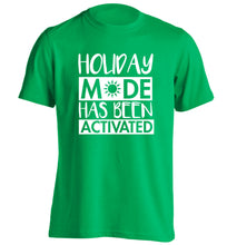 Holiday mode has been activated adults unisex green Tshirt 2XL