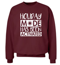 Holiday mode has been activated Adult's unisex maroon Sweater 2XL