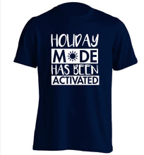 Holiday mode has been activated adults unisex navy Tshirt 2XL