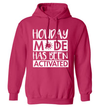 Holiday mode has been activated adults unisex pink hoodie 2XL