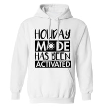 Holiday mode has been activated adults unisex white hoodie 2XL