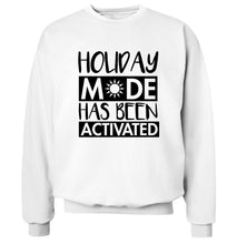 Holiday mode has been activated Adult's unisex white Sweater 2XL