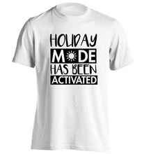 Holiday mode has been activated adults unisex white Tshirt 2XL