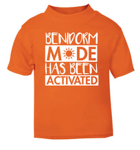 Benidorm mode has been activated orange Baby Toddler Tshirt 2 Years