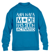 Aiya Napa mode has been activated children's blue sweater 12-14 Years