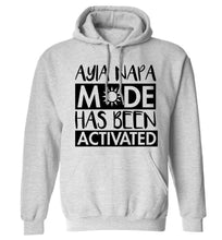 Aiya Napa mode has been activated adults unisex grey hoodie 2XL