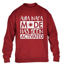 Aiya Napa mode has been activated children's grey sweater 12-14 Years