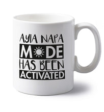 Aiya Napa mode has been activated left handed white ceramic mug