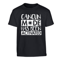 Cancun mode has been activated Children's black Tshirt 12-14 Years