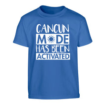 Cancun mode has been activated Children's blue Tshirt 12-14 Years