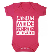 Cancun mode has been activated Baby Vest dark pink 18-24 months
