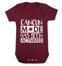 Cancun mode has been activated Baby Vest maroon 18-24 months