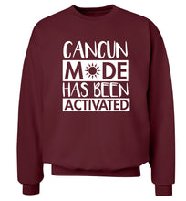 Cancun mode has been activated Adult's unisex maroon Sweater 2XL