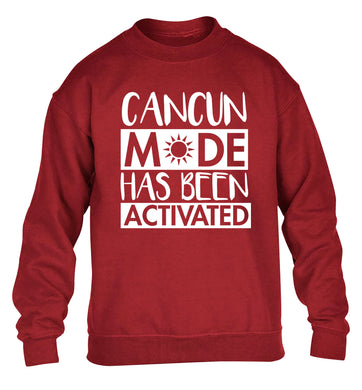 Cancun mode has been activated children's grey sweater 12-14 Years