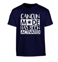 Cancun mode has been activated Children's navy Tshirt 12-14 Years