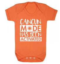 Cancun mode has been activated Baby Vest orange 18-24 months