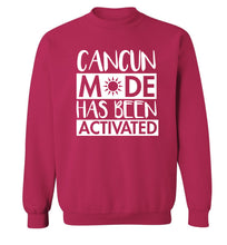 Cancun mode has been activated Adult's unisex pink Sweater 2XL