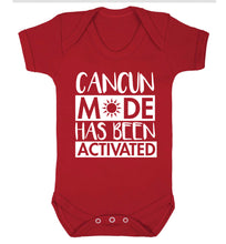 Cancun mode has been activated Baby Vest red 18-24 months
