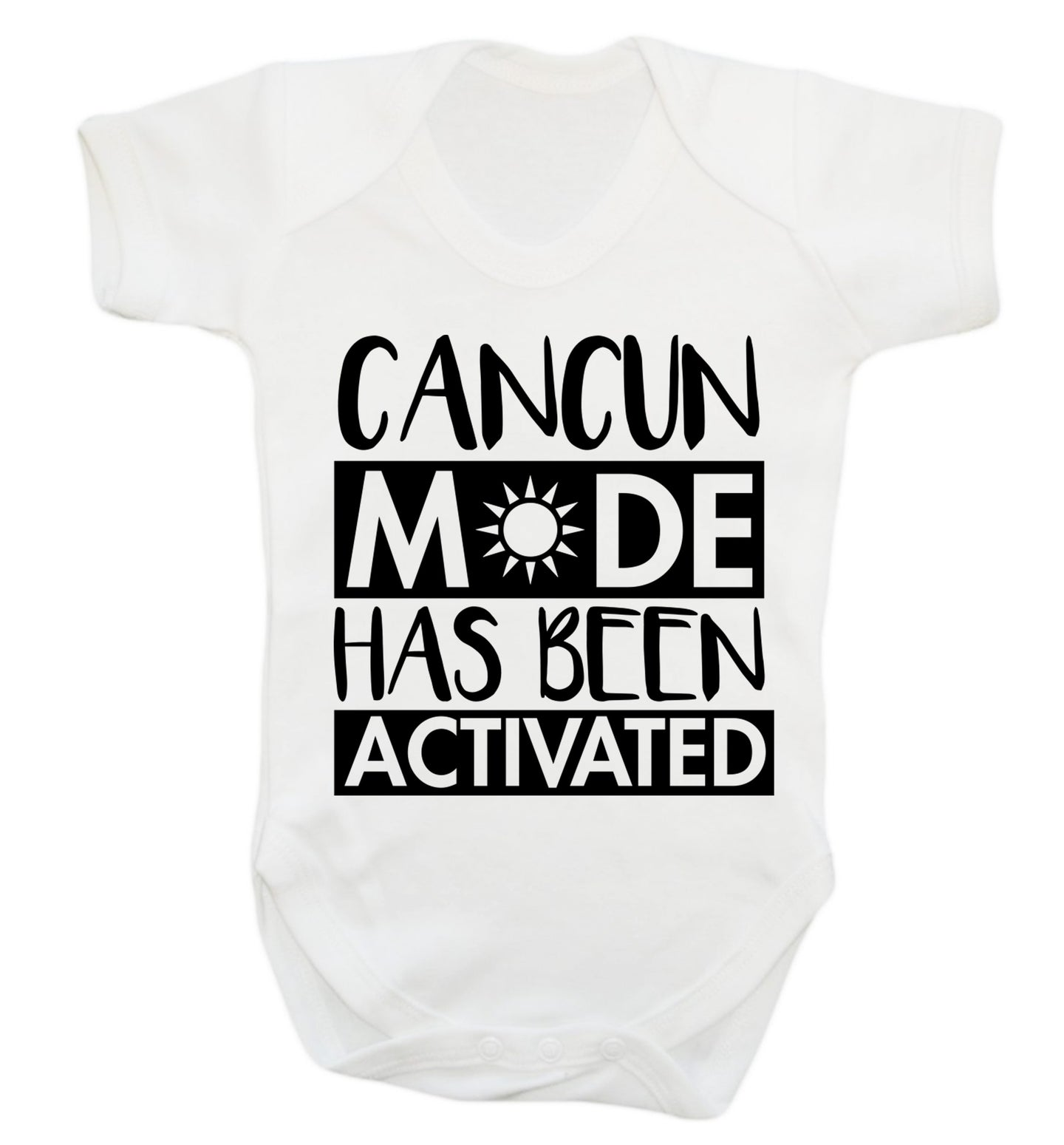 Cancun mode has been activated Baby Vest white 18-24 months