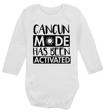 Cancun mode has been activated Baby Vest long sleeved white 6-12 months