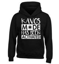 Kavos mode has been activated children's black hoodie 12-14 Years