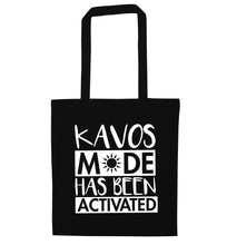 Kavos mode has been activated black tote bag