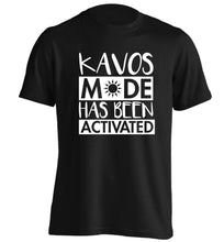 Kavos mode has been activated adults unisex black Tshirt 2XL