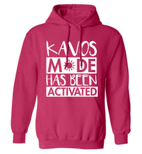 Kavos mode has been activated adults unisex pink hoodie 2XL