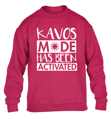 Kavos mode has been activated children's pink sweater 12-14 Years