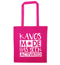 Kavos mode has been activated pink tote bag