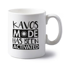 Kavos mode has been activated left handed white ceramic mug