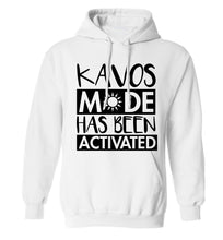 Kavos mode has been activated adults unisex white hoodie 2XL