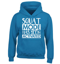 Squat mode activated children's blue hoodie 12-14 Years